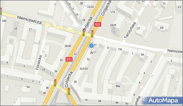 Warszawa, Grójecka, 29, mapa Warszawy