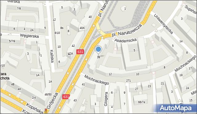 Warszawa, Grójecka, 39, mapa Warszawy