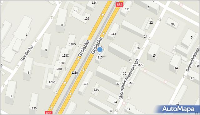 Warszawa, Grójecka, 115, mapa Warszawy