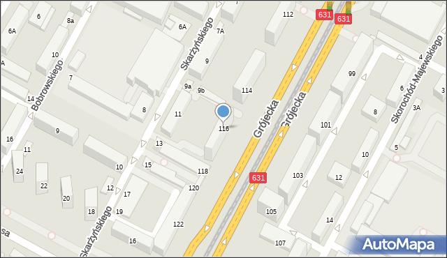 Warszawa, Grójecka, 116, mapa Warszawy