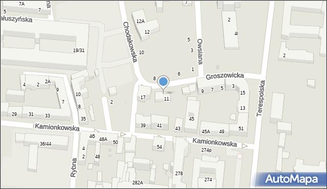 Warszawa, Groszowicka, 11/13, mapa Warszawy