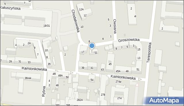 Warszawa, Groszowicka, 13, mapa Warszawy
