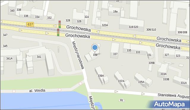 Warszawa, Grochowska, 339, mapa Warszawy