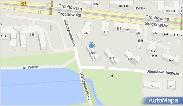 Warszawa, Grochowska, 339A, mapa Warszawy