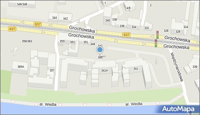 Warszawa, Grochowska, 345, mapa Warszawy