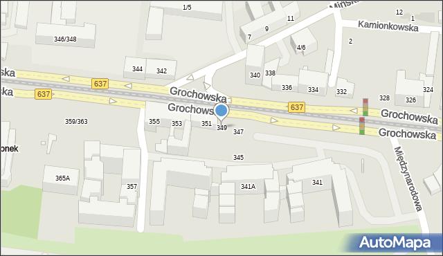 Warszawa, Grochowska, 349, mapa Warszawy