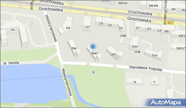 Warszawa, Grochowska, 337A, mapa Warszawy