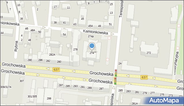 Warszawa, Grochowska, 274, mapa Warszawy