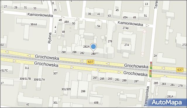 Warszawa, Grochowska, 280, mapa Warszawy