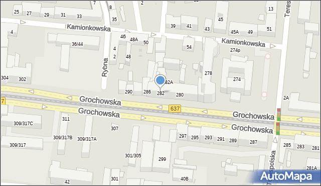 Warszawa, Grochowska, 282, mapa Warszawy