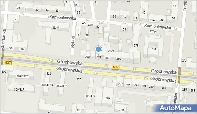 Warszawa, Grochowska, 286, mapa Warszawy
