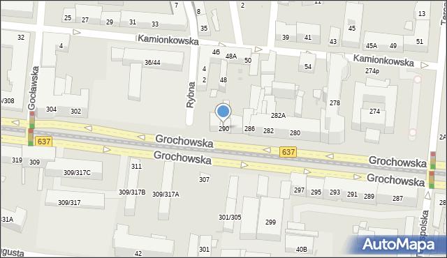 Warszawa, Grochowska, 290, mapa Warszawy
