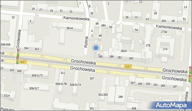 Warszawa, Grochowska, 292, mapa Warszawy