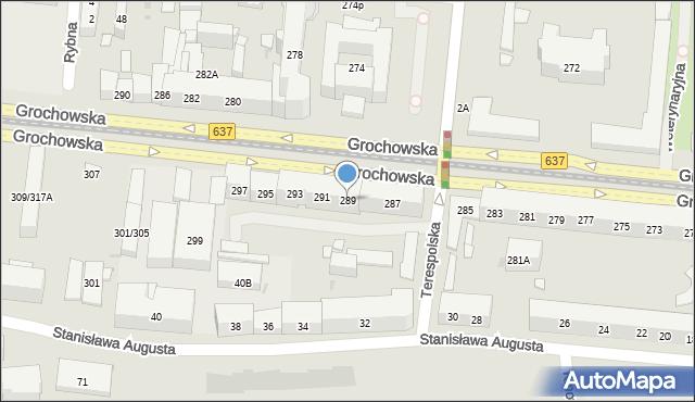 Warszawa, Grochowska, 289, mapa Warszawy