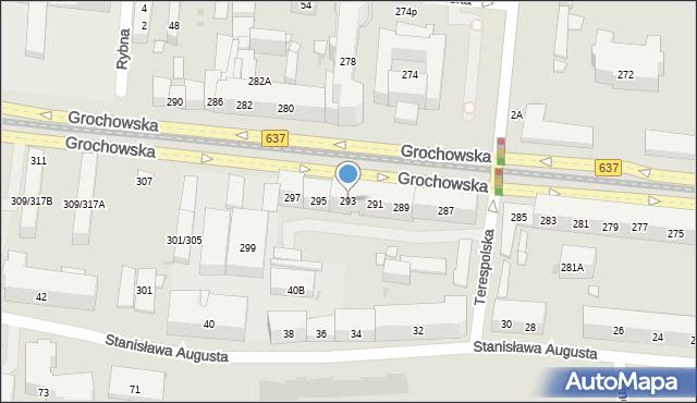 Warszawa, Grochowska, 293, mapa Warszawy