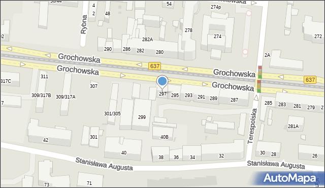 Warszawa, Grochowska, 297, mapa Warszawy