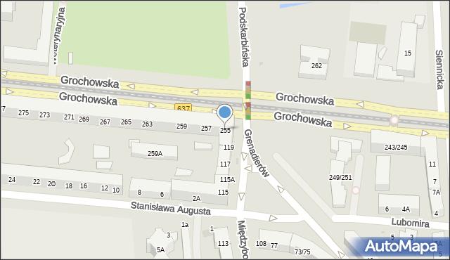 Warszawa, Grochowska, 255, mapa Warszawy