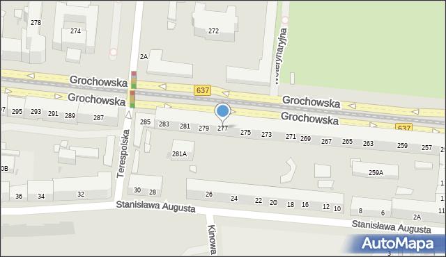 Warszawa, Grochowska, 277, mapa Warszawy