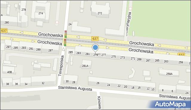 Warszawa, Grochowska, 279, mapa Warszawy
