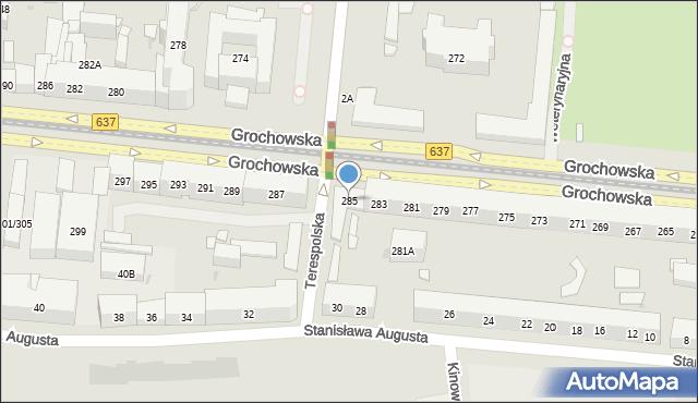 Warszawa, Grochowska, 285, mapa Warszawy