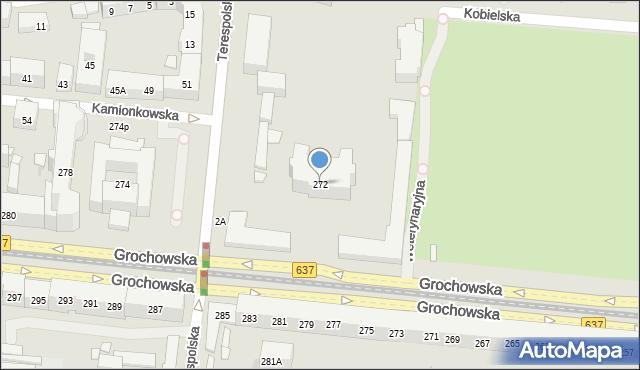 Warszawa, Grochowska, 272, mapa Warszawy