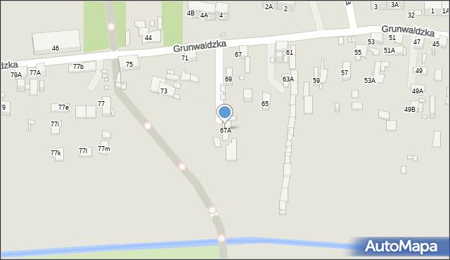 Zabrze, Grunwaldzka, 67A, mapa Zabrza