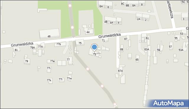 Zabrze, Grunwaldzka, 73, mapa Zabrza
