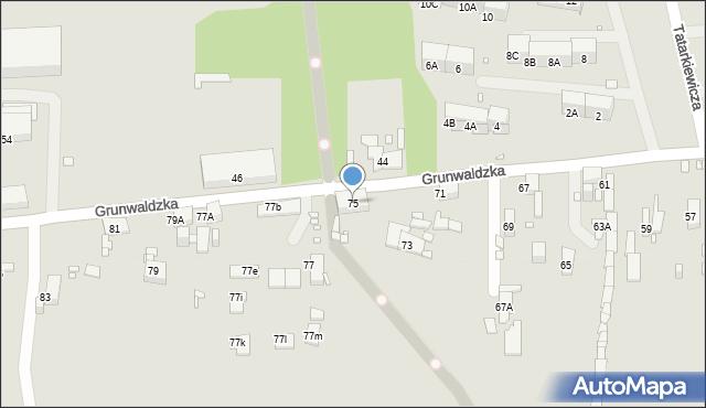 Zabrze, Grunwaldzka, 75, mapa Zabrza