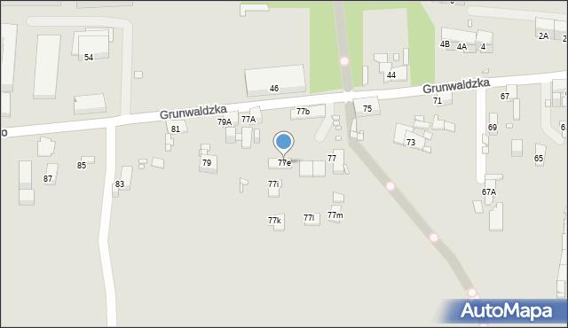 Zabrze, Grunwaldzka, 77e, mapa Zabrza