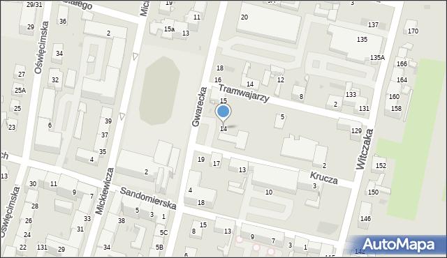 Bytom, Gwarecka, 14, mapa Bytomia