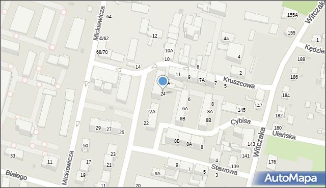 Bytom, Gwarecka, 24, mapa Bytomia