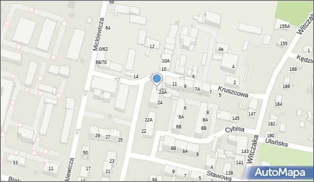 Bytom, Gwarecka, 24b, mapa Bytomia
