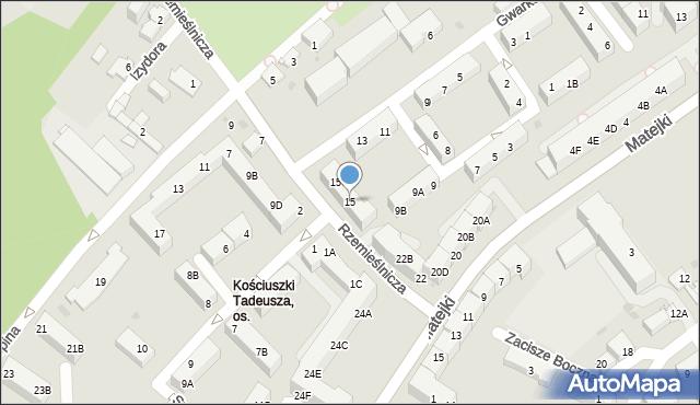 Jaworzno, Gwarków, 15B, mapa Jaworzno