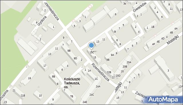 Jaworzno, Gwarków, 15C, mapa Jaworzno