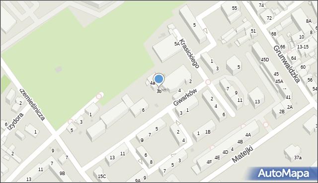 Jaworzno, Gwarków, 3b, mapa Jaworzno