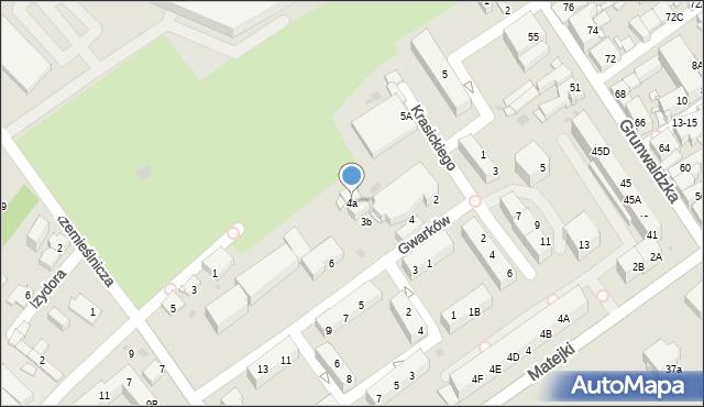 Jaworzno, Gwarków, 4a, mapa Jaworzno