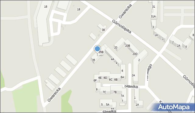 Ruda Śląska, Gwarecka, 35A, mapa Rudy Śląskiej