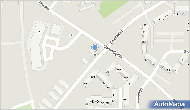 Ruda Śląska, Gwarecka, 38, mapa Rudy Śląskiej