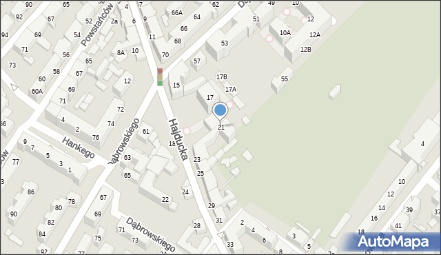 Chorzów, Hajducka, 21, mapa Chorzów