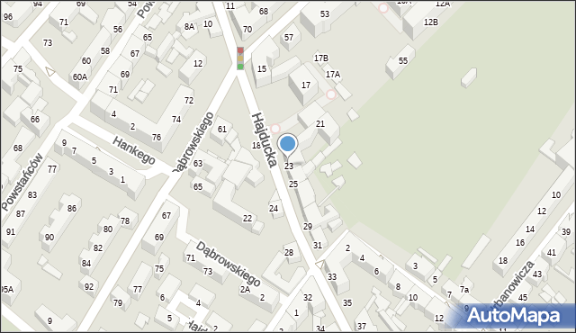 Chorzów, Hajducka, 23, mapa Chorzów
