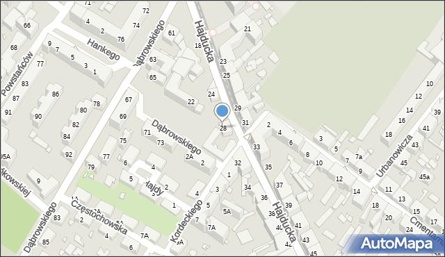 Chorzów, Hajducka, 28, mapa Chorzów