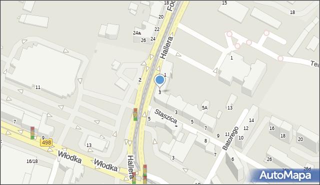 Grudziądz, Hallera Józefa, gen., 3, mapa Grudziądza