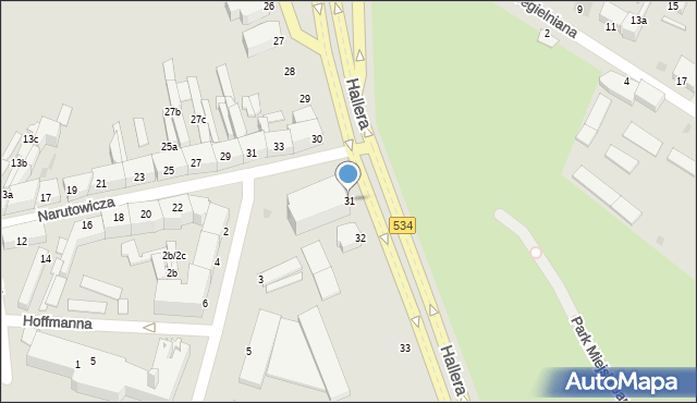Grudziądz, Hallera Józefa, gen., 31, mapa Grudziądza