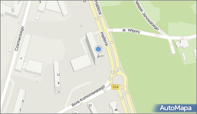 Grudziądz, Hallera Józefa, gen., 37, mapa Grudziądza
