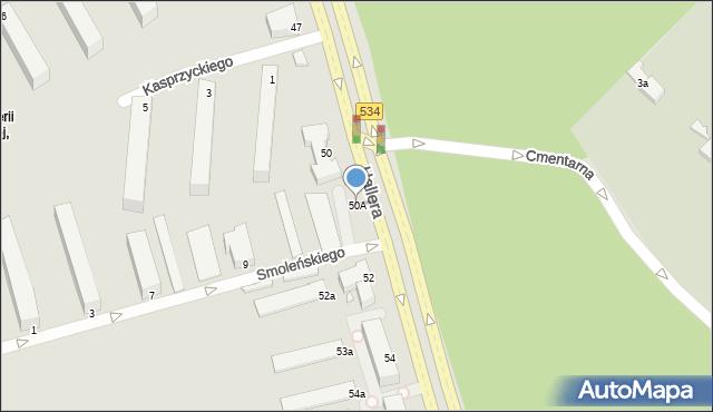 Grudziądz, Hallera Józefa, gen., 50A, mapa Grudziądza