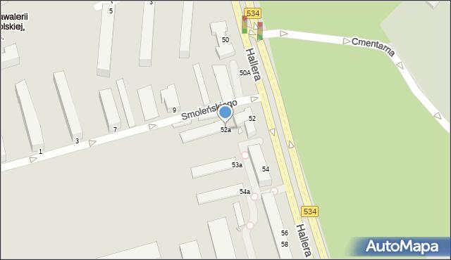 Grudziądz, Hallera Józefa, gen., 52a, mapa Grudziądza