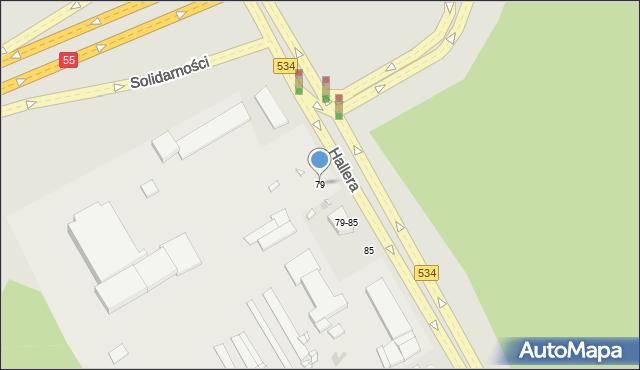 Grudziądz, Hallera Józefa, gen., 79, mapa Grudziądza