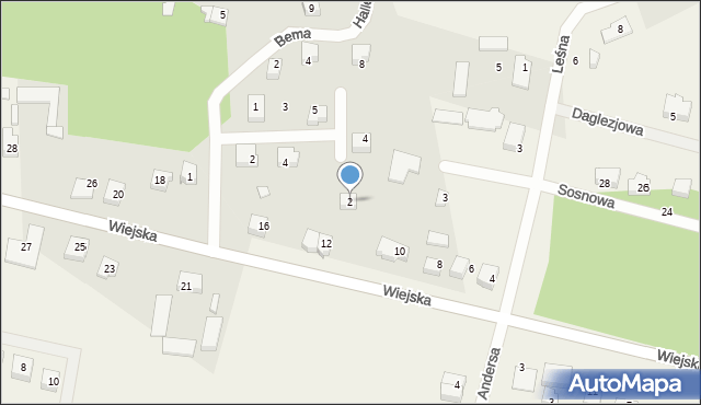 Kębłowo, Hallera Józefa, gen., 2, mapa Kębłowo
