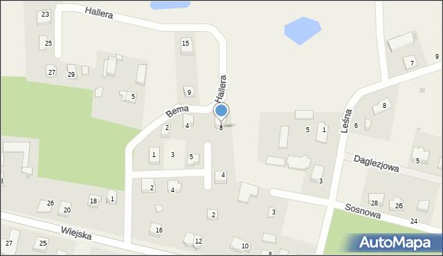Kębłowo, Hallera Józefa, gen., 8, mapa Kębłowo