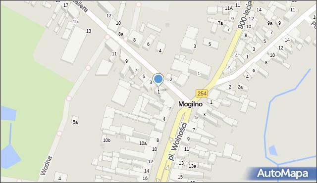 Mogilno, Hallera Józefa, gen., 1, mapa Mogilno